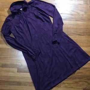 Tehama Deep Purple Athletic Dress Paisley Print